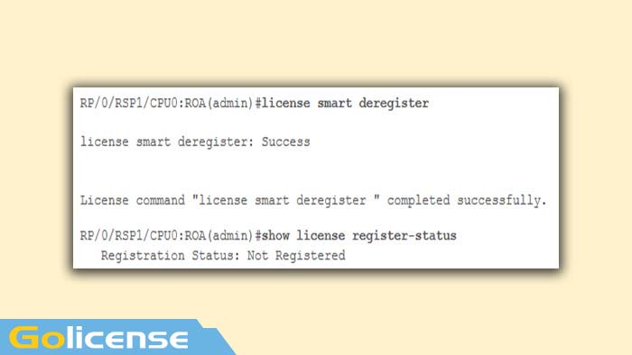 license smart deregister