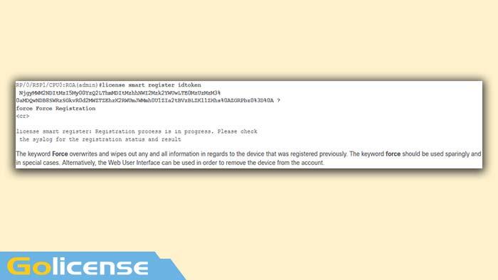 License smart register