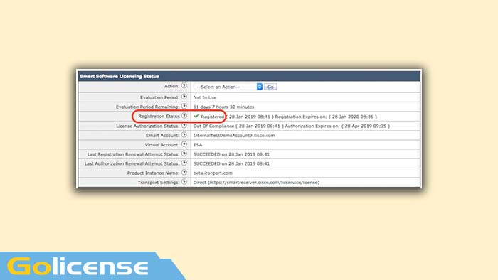 Smart Software Licensing Status